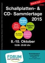 06102015 08102015 Schallplatten CD Sammlertage 0810 10102015 FORUM KOPENICK 12555 Berlin Bahnhofstrasse 33 38