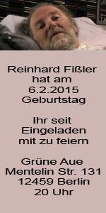 05022015 Reinhard Fissler Hat Am 06022015 Geburtstag Ihr Seit Eingeladen Mit Zu Feiern Grne Aue Mentelin Str 131 12459 Berlin